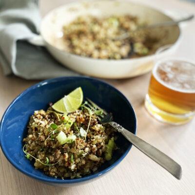 Dirty Cauliflower Rice Served