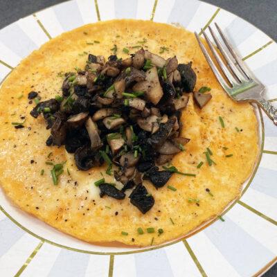Omelette & mushrooms