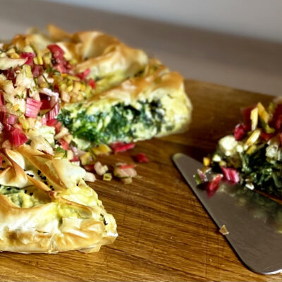 Chard, Spinach & Feta Pie